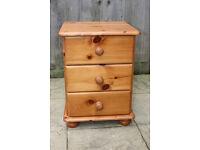 Solid pine bedside cabinet / bedside table