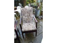 high backed arm chair