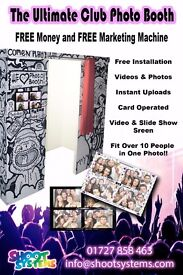 ARE YOU LOOKING FOR A FULL TIME, CARD OPERATED PHOTO BOOTH FOR YOUR CLUB/VENUE? LOOK NO FURTHER....