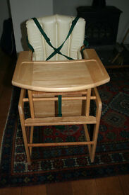 Wooden High Chair / Table & Chair Combination - Great quality & condition
