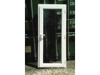 White upvc door with clear glazing,