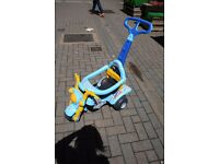 Ride on Police Car Trike Motorbike with parent handle