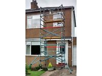 GRP SCAFFOLD TOWER 7 metre working height (5 metre platform height)