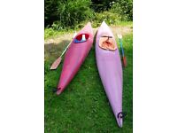 Two Perception Kayaks c/w paddles.
