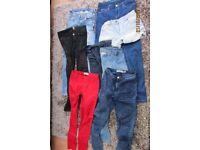 8 Items, skinny jeans, shorts, leggings. Size 8-10. VGC. £11. Torquay.