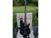 Ibanez SR300-e IPT Bass Guitar with gig bag, strap, lead and tuner. perfect condition