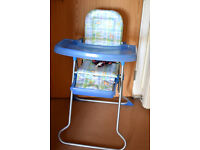 High Feeding Chair Blue