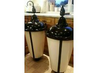 Pair of 1960s Rare Original Antique Street Lamp Column Light Lantern. Traditional design.