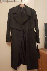 Brand new dark green trench coat size 10
