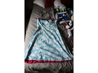 joules blue and white flowered dress size 16