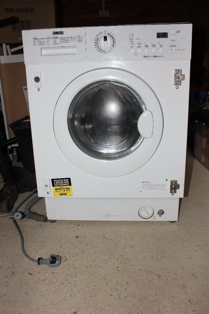 Zanussi built in washer dryer
