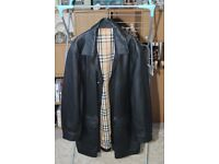 Burberry of London black leather jacket
