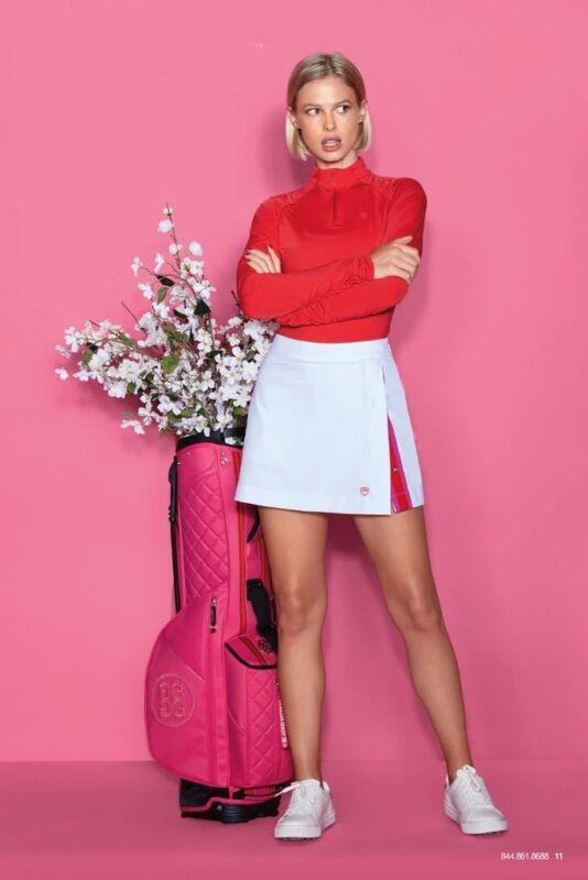 G/Fore Grosgrain Skort NEW Size 6 Snow White Womens Skirt Golf Tennis GFore