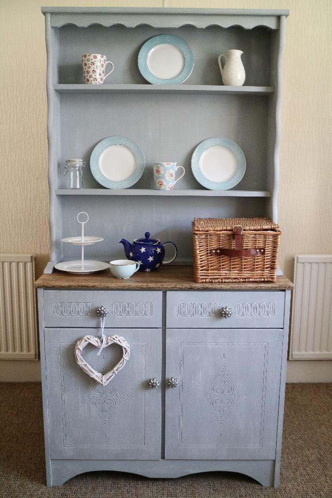 Shabby Chic Welsh Dresser Blue Grey French Kitchen Farmhouse