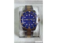 Rolex submariner oyster diver bi metal luxury automatic watch new in WAVE BOX gold/silver 40mm