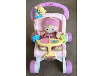 Fisher Price My Stroll and Play Walker + Doll