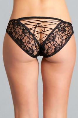 sexy BE WICKED floral LACE sheer LACING open BACK cheeky PANTY panties LINGERIE](Be Wicked Lingerie)
