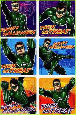 Green Lantern Halloween Stickers x 6 - Trick or Treat - Justice League - Gifts Halloween Green Lantern
