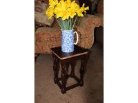 Small dark wood plant stand/table