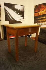 Vintage piano stool in Oak