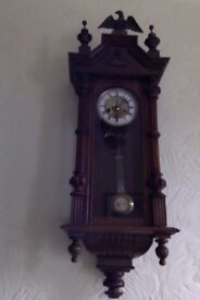 A very nice Vienna Wall Clock of small proportions for sale