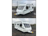 2009 Abbey Expression 540 Fixed Bed 4 Berth Caravan, Powrtouch Motor Mover, Awning & Extras