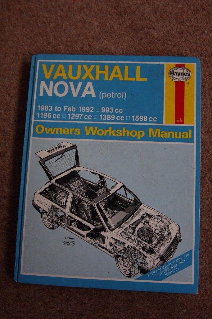 VAUXHALL NOVA HAYNES MANUAL 1983-92