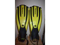 Diving Fins Mares Plana Avanti Quattro Plus Yellow Regular