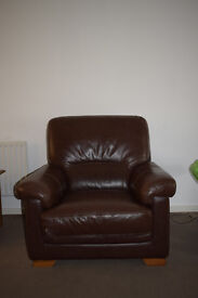 leather 3+1 sofa minimally used for 1.5y looks new good quality