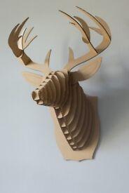Large Cardboard Safari Stag Trophy Head Buck the Deer Brown