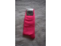 Plain Neon Bright Colour Socks