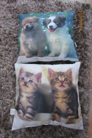 2 Animal Cushions. Excellent condition. £4.50 for both, collect from Torquay.