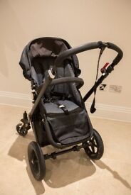 Bugaboo Chameleon 2 Baby Stroller Limited Edition Denim Raincover Bag Pram Buggy