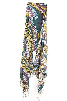 WARM ABSTRACT INSPIRED COOL GROOVY THEME UNIQUE STATEMENT SCARF - Groovy Theme
