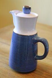 Royal blue and White Jug (similar to Denby)