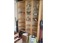 Ikea Billy range light wood cabinet, bookcase and cd/dvd storage racks