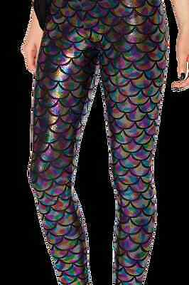 NEW Black Milk Museum LIMITED Medium Mermaid Holographic Leggings halloween fun](Black Milk Halloween Leggings)