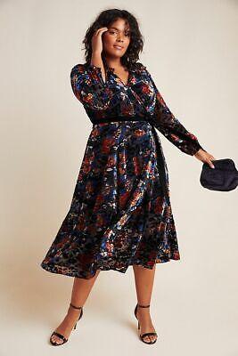 New Anthropologie Deirdre Velvet Wrap Dress by Hutch. size 1X