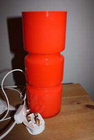 Orange Glass Lamp for sale
