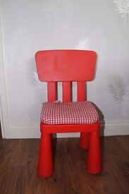 Child's Red Chair V.G.C. £5