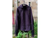 norrona softshell jacket, large, black