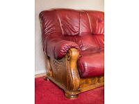 2 seated leather sofa