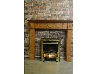 Wooden fire surround £30