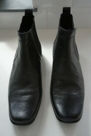 Men's Black Chelsea Boots, size UK 9.5, from Marks & Spencer - Excellent Condition