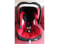Britax Romer Baby-Safe Plus SHR ll Group 0 Plus Car Seat in Red with Baby-Safe Isofix Base