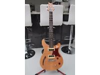 PRS SE Custom Semi-Hollow Body guitar, Moon Inlays & with PRS padded gig bag. Excellent condition