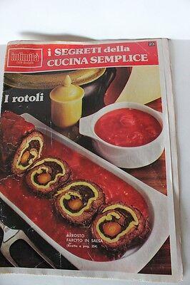 """"""" I SEGRETI DELLA CUCINA SEMPLICE"""" RIVISTA INTIMITA' ANNO 1979 I ROTOLI n.23"""