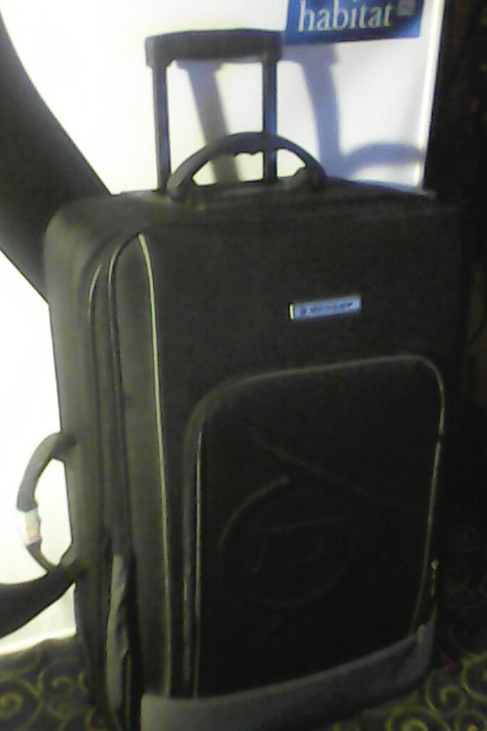 Two suitcases (Carlton & Dunlop) medium sizes with wheels