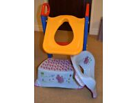 Toilet training set, Potty training toilet seat , with step and ladder