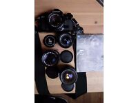 Canon A-1 with 4 lenses *TESTED*